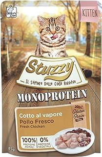 Stuzzy, Comida húmeda para Gatitos, Sabor Pollo Fresco, paté monoproteínico sin Trigo ni Gluten - Total 1,36 kg (16 Sobres...
