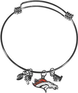 NFL Siskiyou Sports Womens Denver Broncos Charm Bangle Bracelet One Size Team Color