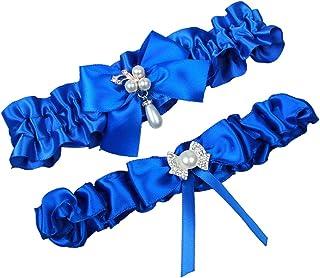 710a9e063bb MerryJuly Satin Ribbon Wedding Bridal Garter Belt Set Toss Away Prom Garters