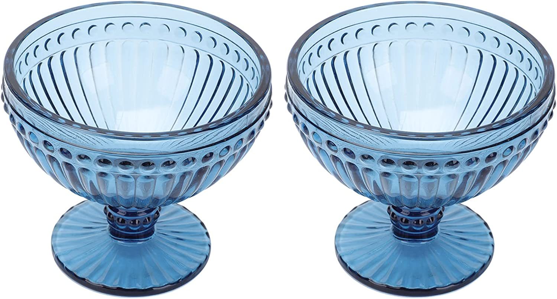 BESTOYARD 2Pcs In a popularity Short Stem Clear Footed Bowl Ranking TOP9 Dessert Glass Bowls