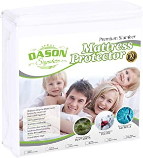 DASON Signature Premium Mattress Protector pad Cover Super Soft Cotton Sheet - Waterproof & Breathable Hypoallergenic Anti-Allergy and Comfortable - King Size