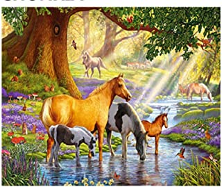 Classic Jigsaw Puzzle 1000 Piece Adult Children Puzzle Wooden Puzzle DIY Streaming Animals by The Creek Modern Home Decor Unique Gift Intellectual Game Wall Art 75x50cm