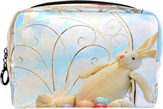 Cosmetische tas make-up tas reizen cosmetische zakje clutch portemonnee toilettas paashaas eieren tuin