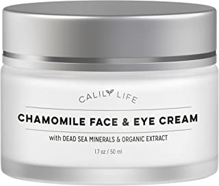 Calily Life Chamomile Face Cream for Face and Eye with Dead Sea Minerals, 1.7 Oz. – Calming and Soothing for Sensitive and irritated Skin – Deep Moisturizing, Anti-Aging and Reduces Puffiness