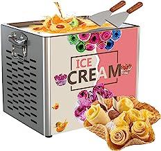 Machine électrique à rouler la crème glacée au yogourt frit,machine à rouler la crème glacée frite Machine à rouler la gla...