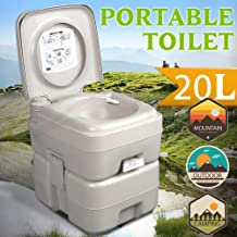 Goujxcy Portable Toilet,5.3 Gallons Portable Removable Flushing Toilet Outdoor Camping Potty for Travel, Camping, Hiking & Other Outdoor or Indoor Activities