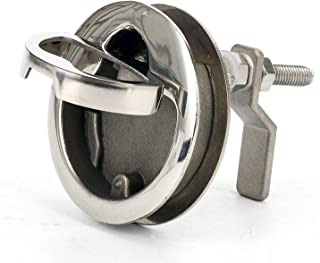 Amarine Made Marine Boat Stainless Steel 2 Hatch Latch with Turning Lock Lift Handle