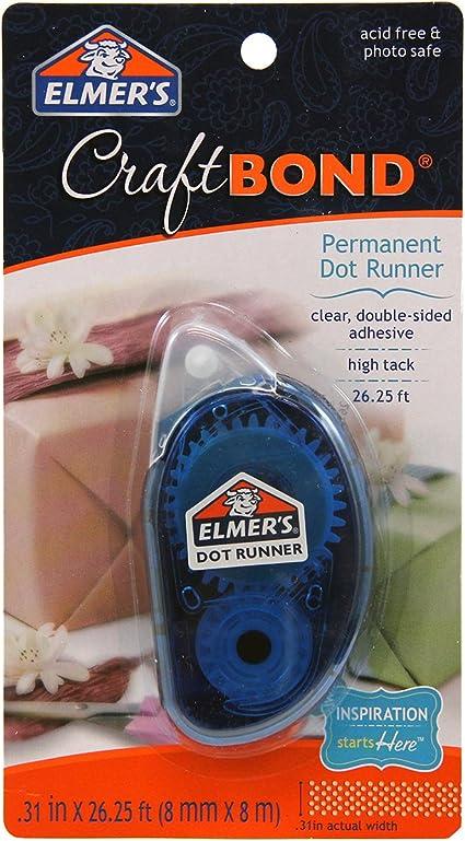 Clear Craftbond Permanent Tape Runner 2 Refills Per Pack E4007 31 by 26-1//4 Feet Elmers 2-Pack