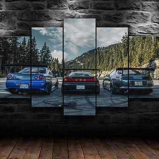 KOPASD Immagini Stampa su Tela in Moderni Niss Skyline NSX Toyot Supra JDM Car Murale Decorazione da Parete 5 Pezzi Murale...