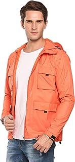 COOFANDY Unisex Lightweight Rain Jacket Waterproof Hooded Running Cycling Zipper Packable Outdoor Raincoat