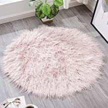 Round Cashmere Rug Bedroom Bedside Cold Warm Pad Living Room Sofa Coffee Table Mat Chair Cushion Carpet,1,180cm