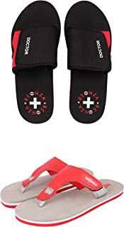 BEONZA Women Doctor Ortho Combo Pack of 2 Pairs of Flip Flop Slippers