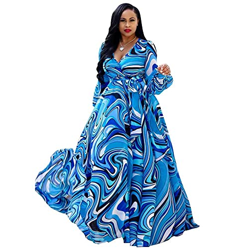 Plus Size Printed Maxi Dress: Amazon.com