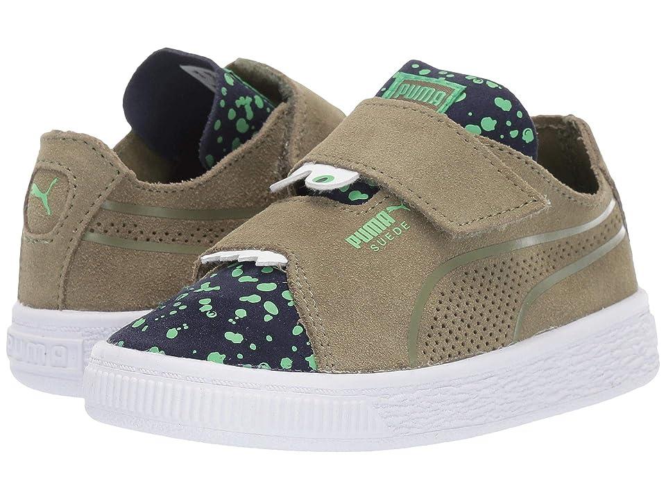 Puma Kids Suede Deconstruct Monster V (Toddler) (Olivine/Peacoat/Irish Green) Boys Shoes