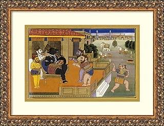 Framed Wall Art Print Illustration to The Mahabharata by Jaipur 17.62 x 13.50