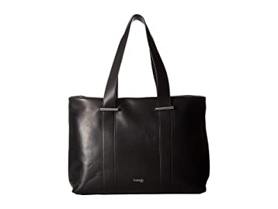 Lipault Paris By The Seine Large Tote Bag (Black) Tote Handbags