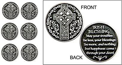 Set of 6 Irish Blessing Pocket Tokens in an Organza Bag
