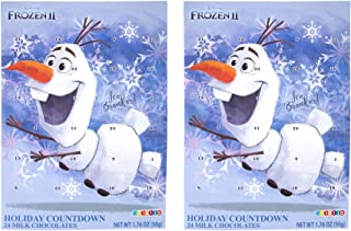 Disney Frozen 2 Milk Chocolate Candy Filled 2019 Christmas Advent Calendar, 1.76 Ounce, Pack of 2