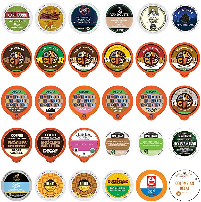 Decaf Coffee Variety Pack Sampler For Keurig K Cup Coffee Machines 30 Count All Unique Cups No Duplicates