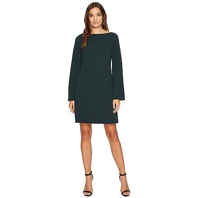 Donna Morgan Roxie Boat Neck Shift Dress with Split Sleeve (Viridian Green) Women