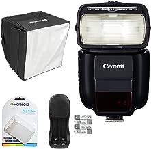 Canon Speedlite 430EX III-RT Flash, Polaroid Flash Diffuser, Polaroid Mini Studio Soft Box Flash Diffuser and Power Battery Charger