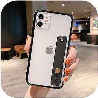 Dnhai for iPhone SE2020用のカラフルなバンパークリア電話ケース1211Pro Max XR XS Max X 7 8 Plus 11Pro SoftTPUリストバンドスタンドマットカバー-T1-for iPhone 8 Plus