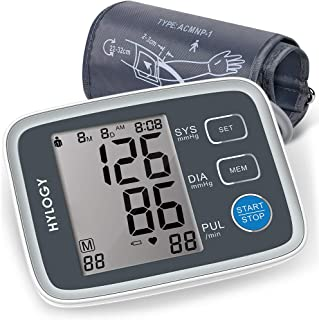 Blood Pressure Monitor, HYLOGY Digital Automatic Upper Arm BP Monitor Cuff 8.7 to 12.6 Inch