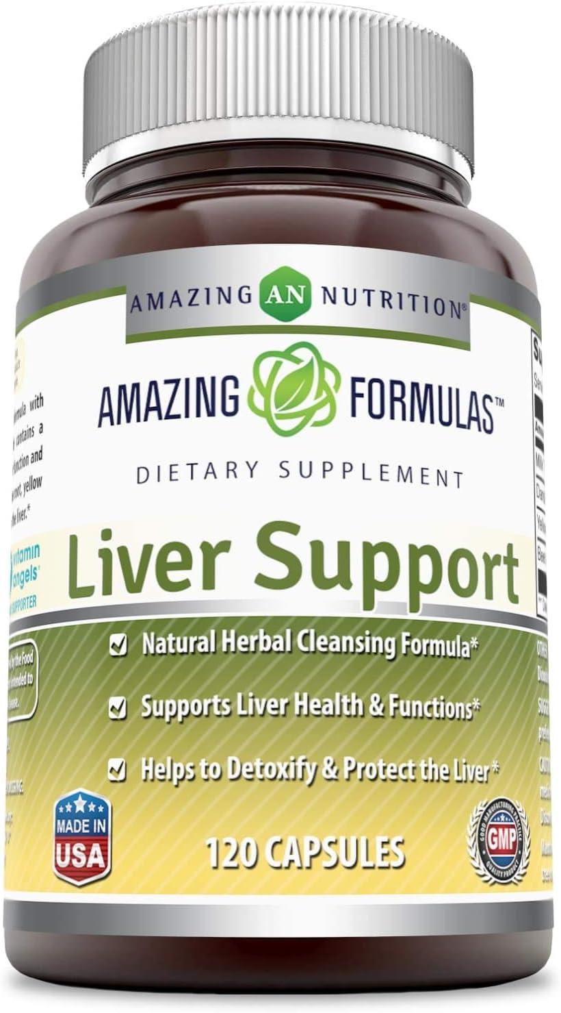 Amazing Formulas Liver Support 120 New Ranking TOP20 Shipping Free Capsules Gluten Non-GMO