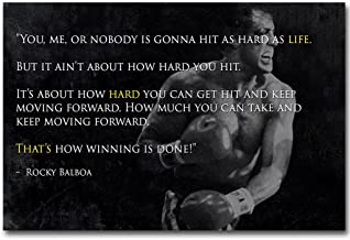 13X20Inch Rocky Balboa Inspirational Motivational Movie Quotes Poster 13X20 24X36 Inch 011