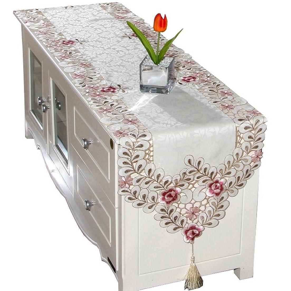ペース寄り添うバンカーYiyiLai 田園風 北欧 テーブルランナー ベッド エレガント テーブルクロス 食卓飾り 豪華 タッセル S