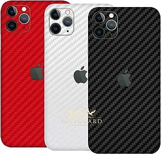 SopiGuard Skin for Apple iPhone 11 Pro Max Precision Edge-to-Edge Vinyl Sticker Full Body Wrap (3 x Carbon Black Red White)