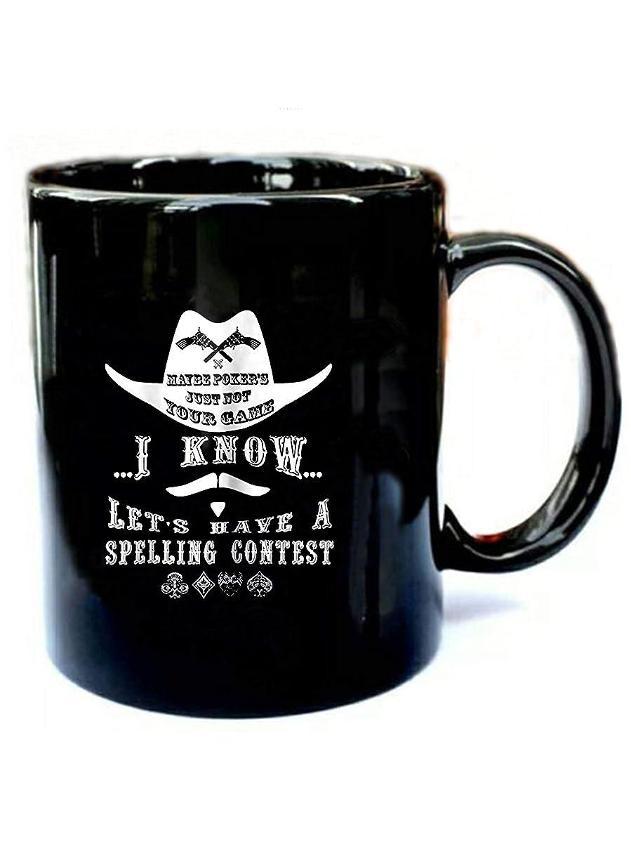 Doc Holliday Poker - Funny Gift Black 11oz Ceramic Coffee Mug