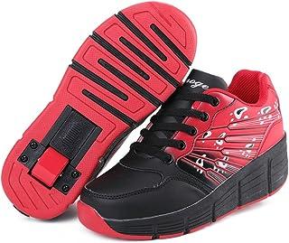 EVLYN Boys Girls Single Wheels Roller Skate Shoes Kids Sports Sneaker