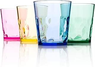 SCANDINOVIA - 8 oz Unbreakable Premium Juice Glasses Tumbler - Set of 4 - Tritan Plastic Cups - BPA Free - Made in Japan