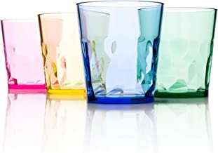 SCANDINOVIA - 8 oz Unbreakable Premium Juice Glasses - Set of 4 - Tritan Plastic Tumbler Cups - Perfect for Gifts - BPA Fr...