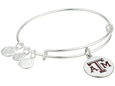 Alex and Ani Color Infusion Texas AM University Logo II Bangle (Shiny Silver) Bracelet