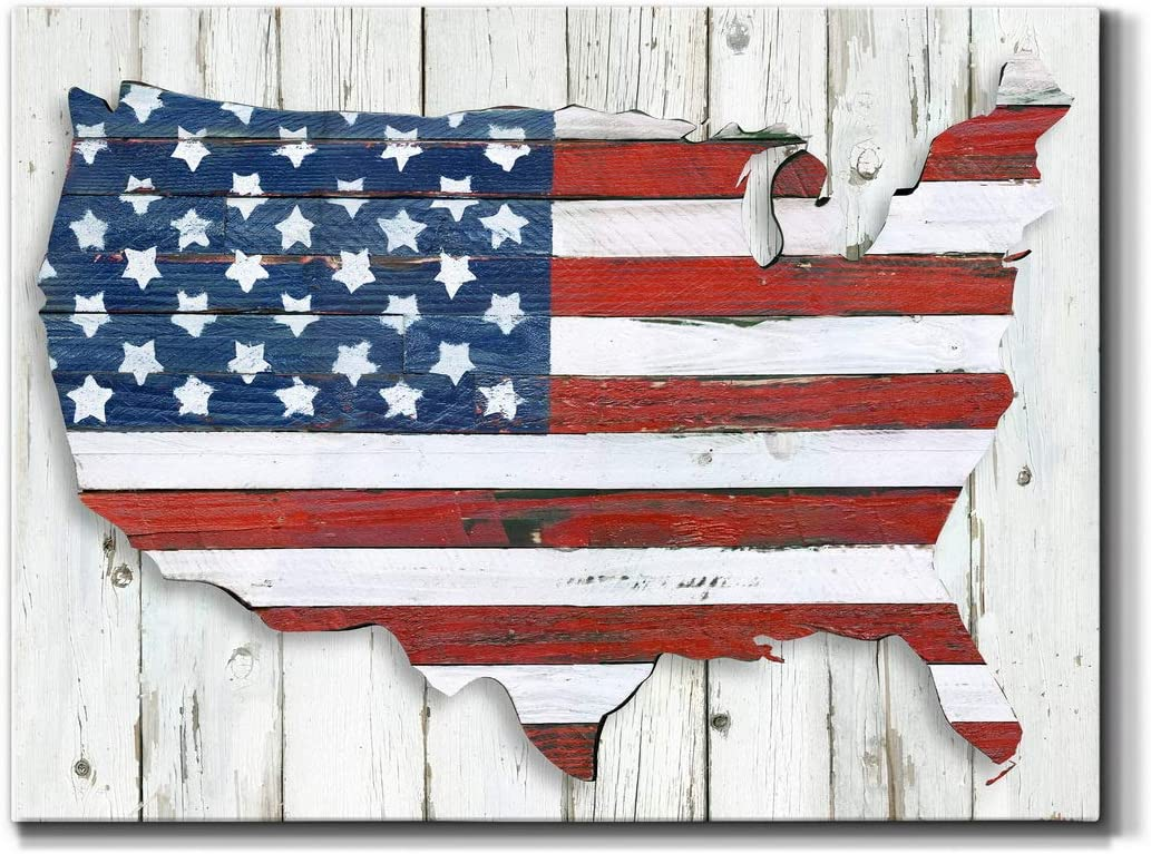 Renditions Gallery Land of Liberty Chicago Max 76% OFF Mall Wall Art Wra Premium
