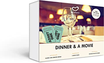 Dinner and a Movie in New York Experience Gift Card NYC - GO DREAM - Sent in a Gift Package