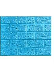LIOOBO Pegatinas de Pared de ladrillo 3D Papel Tapiz de pelar y Pegar en 3D para Paredes de TV sof/á Fondo decoraci/ón de Pared Azul Oscuro