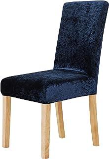Deconovo Fundas para Sillas Comedor Moderna Salón Suave Lavable Retaurante Hotel 6 Plazas 46 x 46 x 60 cm Azul Marino