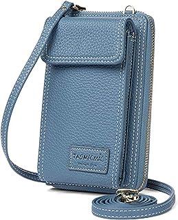 حقيبة كروس للنساء محفظة للهاتف الخلوي محفظة كتف صغيرة حقيبة يد جلدية للبطاقات