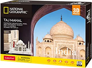 CubicFun National Geographic 3D Puzzle for Adults Kids Taj Mahal India Architecture 3D..