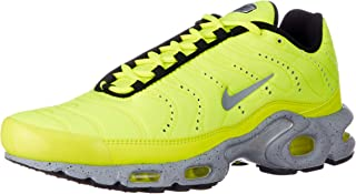Nike Men's Air Max Plus PRM, Volt/Matte Silver-Wolf Grey