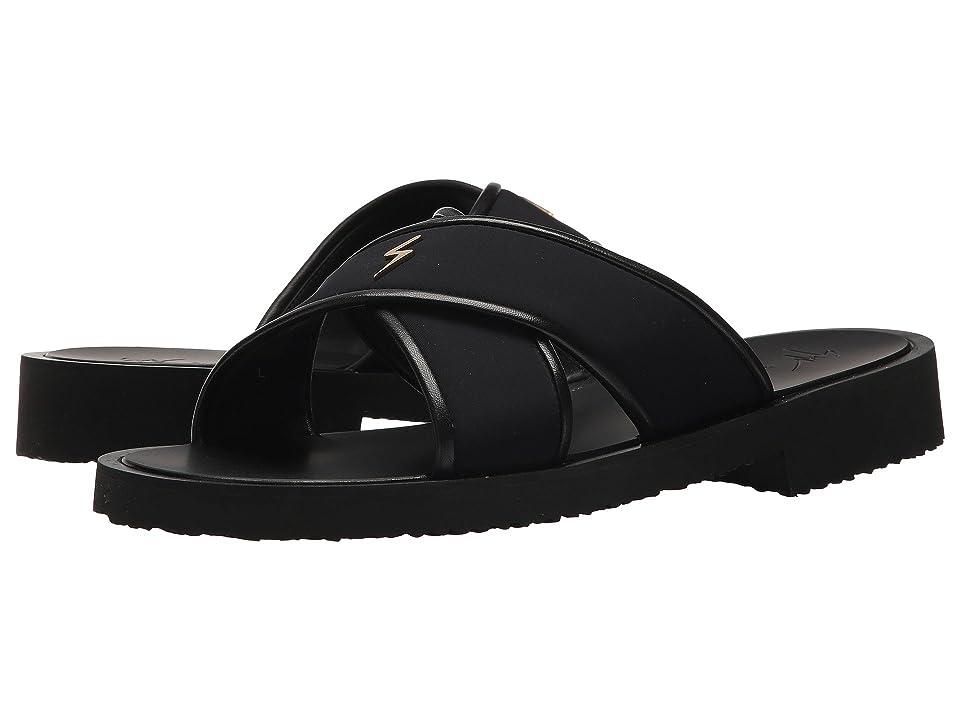 Giuseppe Zanotti Gomzak Crossover Sandal (Black) Men