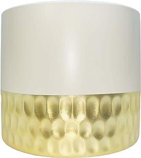 Willow + Key - Plant Pot-Drainage Plug-Matte White and Light Gold