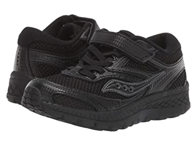 Saucony Kids Cohesion 12 A/C (Little Kid/Big Kid) (Black/Black) Girl