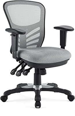 Amazon Com Modway Eei 757 Gry Articulate Ergonomic Mesh Office Chair In Gray Furniture Decor