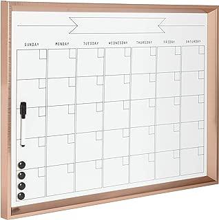 Kate and Laurel Calter Framed Magnetic Dry Erase Monthly Calendar, 21.5