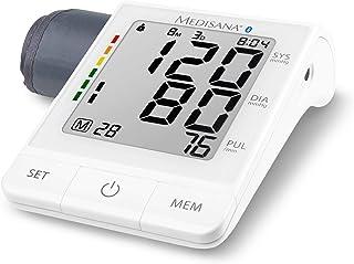 Medisana BU 530 connect Tensiómetro para el brazo, pantalla de arritmia, escala de colores de los semáforos de la OMS para una medición precisa de la tensión arterial y del pulso con app