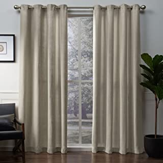 Exclusive Home Curtains Winfield Heavyweight Metallic Sheen Treatment Basketweave Window Curtain Panel Pair with Grommet T...